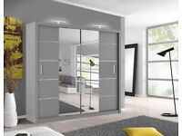 LISBON CENTRAL MIRROR SLIDING DOOR WARDROBES AVAILABLE FREE AND FAST HOME DELIVERY!!!!