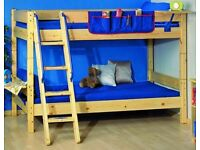 Thuka solid bunk bed with pink trim