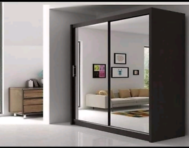 💥💯GREAT DEALS 2 AND 3 MIRRORED DOORS SLIDING WARDROBES WITH SHELVES,