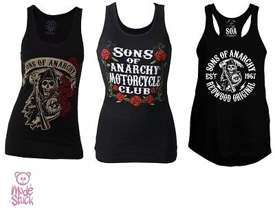 Sons of Anarchy Samcro Tanktop Shirt woman girl Biker reaper badge SoA MODESTÜCK