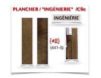 """(441-5) PLANCHER """"INGÉNIERIE""""/CLIC /Merisier_Bronzé_ 1.99$ /P.C"""