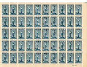 1947 Sheet of Postage Stamps
