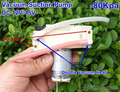 Dc 12v15v Micro Diaphragm Vacuum Air Pump Suction -80kpa Mini Dc Vacuum Pump