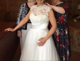 Ivory wedding dress size 12-14