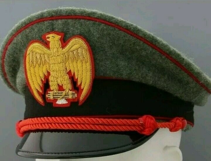 WW2 Italia per berretto da MVSN general visor hat replica rare All Sizes