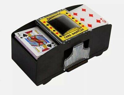 2 Deck Automatic Card Shuffler Poker Cards Shuffling Machine Casino Playing US
