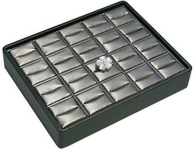 Stackable 20 Ring Tray Black Steel Grey Jewelry Store Pawn Shop Display