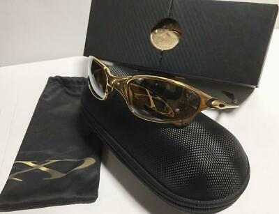 OAKLEY SUNGLASSES MEN FASHION 750 LIMITED MODEL RARE JULIET & X SQUARED 24K GOLD