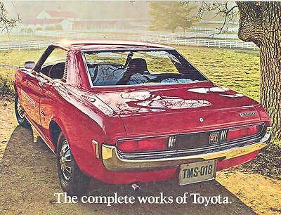 1972 Toyota Sales Brochure Celica Corolla Land Cruiser mw8163-TA3VNY