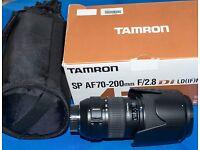 Tamron SP 70-200mm F2.8 Di LD Macro Lens - Nikon Fit
