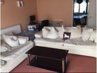 Cream DFS four seater sofas x 2