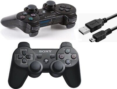 Sony Playstation 3 DualShock Wireless Controller PS3 Contoller + USB Cable USA