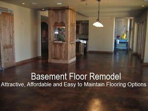 Basement Floor Remodel - Concrete Acid Staining - (905) 359-4270