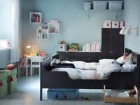 Ikea kids bed black suits toddlers and children aged 2-8