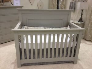 Grey crib new in box