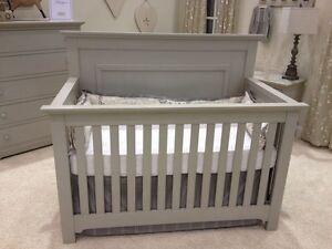 Grey crib new in box