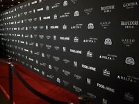 CUSTOM BANNERS/BACKDROP PACKAGE/STEP&REPEAT - LOW AS $159.00!