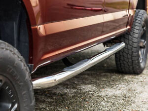 "3"" Stainless Steel Side Bars for Ford Dodge GM Chev Toyo Trucks"