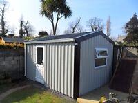 multipurpose steel sheds - no maintenance cladding