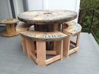 Cable Reel Tables (Garden, Dining, Coffee & Console)