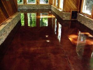 Epoxy, polished concrete, garage floors
