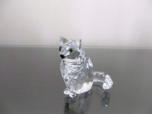 "SWAROVSKI CRYSTAL ""SITTING CAT"" Figurine-MADE IN AUSTRIA"