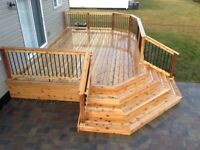 Get Your Deck or Fence Done Before Winter!