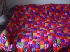 Pier Kingsize Bedspread checkered