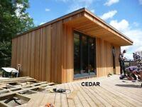 Timber Cladding / Cedar or Larch / Home, Garden, Office, Man Cave / Building Materials / Oak