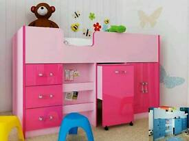 Girls pink cabin bed - brand new & unboxed