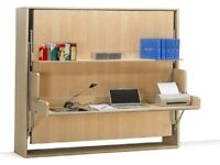 Hidden Bed with Desk - Muphy Bed with Desk - double