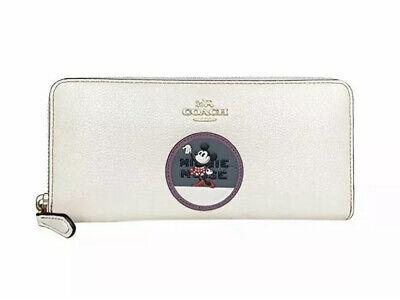 COACH X Disney Minnie Mouse Slim Accordion Zip Wallet $175