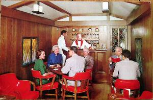 1950s union pacific railroad postcard city denver streamliner pub car interior ebay. Black Bedroom Furniture Sets. Home Design Ideas