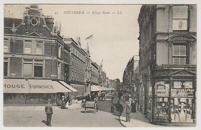 Hampshire postcard - Southsea - King's Road - LL No. 45 - P/U 1907