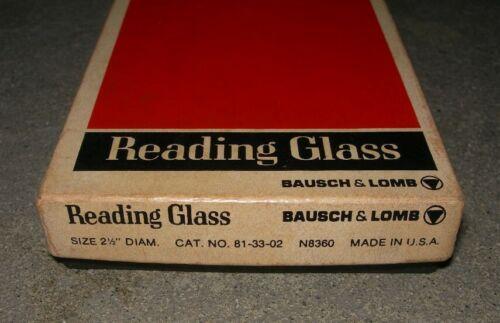"Vintage Bausch & Lomb 2.5"" Round Reading Glass Gray~ USA Original Box~ #81-33-02"