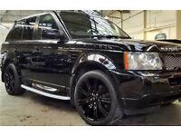 Range Rover Sport 2.7, 2008, All Metallic Black, 20ins Alloys, Spoiler, Sat Nav, Park Sen, Serv Hist