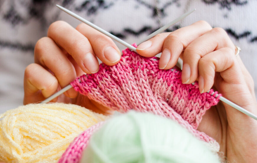 Knitting Work From Home : How to yarn over in knitting ebay