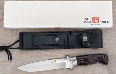 VINTAGE 1980'S AL MAR S.E.R.E. made in SEKI JAPAN FIGHTING KNIFE, SHEATH & BOX