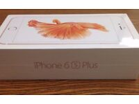 Brand New Sealed Apple iPhone 6S Plus - 128GB - Rose Gold Sim Free With Apple Warranty