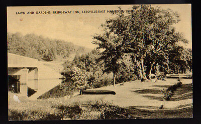 East Hampton Connecticut Ct Lawn And Gardens Bridgeway Inn Leesville Postcard Pc