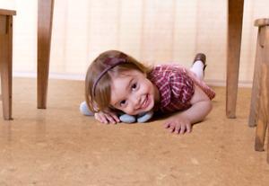 Kitchen Love Cork! cozy floor, excellent sound
