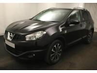2012 BLACK NISSAN QASHQAI 1.6 117 N-TEC+ PETROL AUTO HATCH CAR FINANCE FR £37 PW