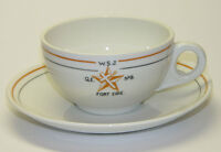BUFFALO CHINA CUPS & SAUCERS - FRATERNAL ORDER FORT ERIE MASONS
