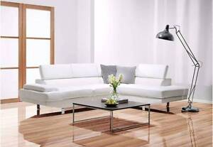 Like New White Bonded Leather Corner Chaise Suite Sofa Lounge Murrumba Downs Pine Rivers Area Preview