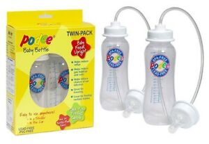 OFFICIAL-Podee-Twin-TWO-Pack-Hands-Free-Baby-Feeding-2-Bottles-Nipples-System