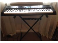 Casio electric keyboard with stand.