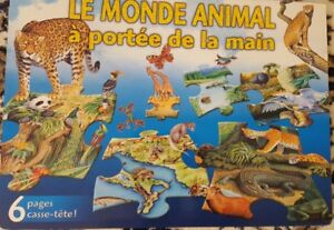Children's Reference Book & Puzzle Le Monde Animal - In French