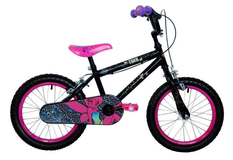 Girls Disney Tinkerbell Tink Bike Halfords 16\