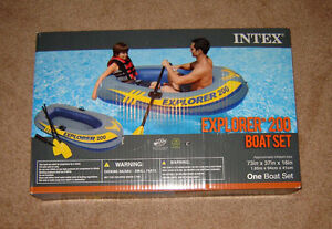 **NEW** 2 Person Inflatable Boat + oars and pump