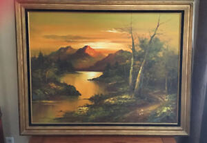 Original Vintage oil painting by G. Whitman